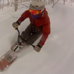 GoPro SNOWBIKE shooting by gyro mount in Niseko